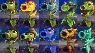 PVZ Garden Warfare 2: ALL PEASHOOTERS Gameplay NEW PEASHOOTERS (TURF  TAKEOVER)