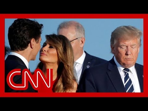 , title : 'Melania Trump's moment with Trudeau goes viral