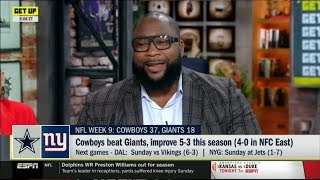 ESPN GET UP | Marcus Spears IMPRESSED by Cowboys beat Giants, improve 5-3 this season