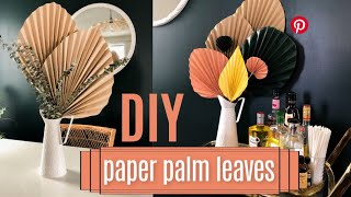 DIY Paper Palm Leaves