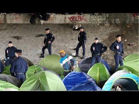 Police evacuate 'Millénnaire' migrant camp in Paris