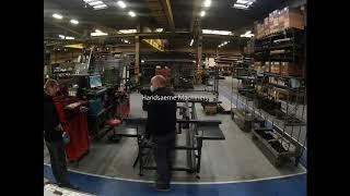 Machine for wooden garden panels