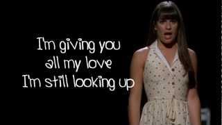 Glee - I Won't Give Up (Lyrics)