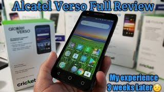 Alcatel Verso Full Review. Is it worth getting for free on Cricket Wireless if you port over??