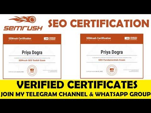 SEMrush SEO Certifications | SEMrush Search Engine Optimization ...