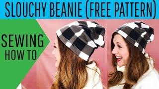 Slouchy Fleece Beanie DIY Free Pattern