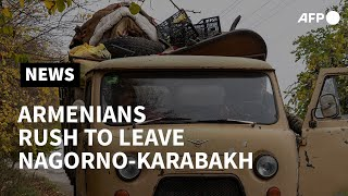 Armenians rush to pack and leave Nagorno-Karabakh ahead of Azerbaijan handover | AFP