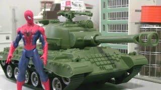 Spiderman Tank Toys 스파이더맨 vs 탱크 장난감