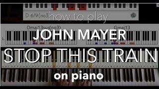 """How To Play """"Stop This Train'"""" By John Mayer ON PIANO   Piano Couture - Piano Lingo Tutorial"""