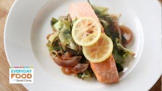 Salmon with Escarole and Lemon   Everyday Food with Sarah Carey