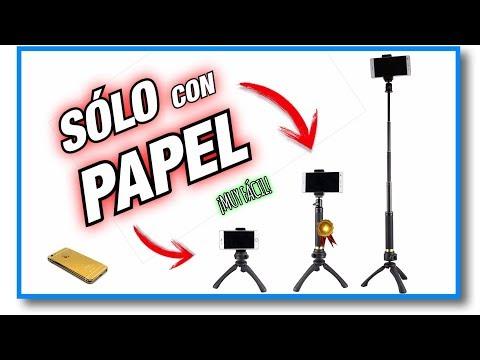 ¡Haz un TRIPODE de PAPEL para CELULAR! (¡Muy Fácil!) | Pablo Inventos
