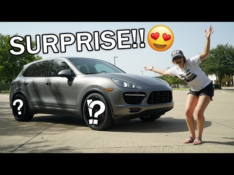 SURPRISED MY WIFE WITH NEW WHEELS! (Cayenne Turbo)
