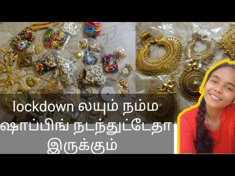 Eshwar shop review   lockdown shopping  silk thread jewellery  meterial