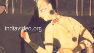 Rambha and the Swan- Pahari painting in Basohli Kalam