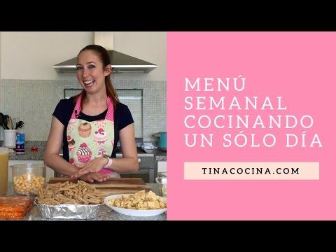 ¿Te Aburre Cocinar a Diario? Crea Un Menú Semanal En Un Día