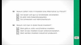 Deutsch Lernen Goethe Zertifikat B2 Hörverstehen Teil 1 Mit
