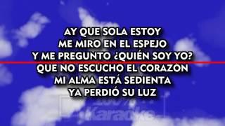 Ana Gabriel - Huelo a Soledad karaoke letra lyric