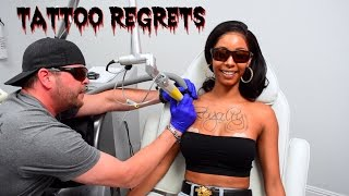 My Girlfriend Removes Chest Tattoo!