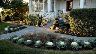 Planting Up Our Front Entrance For Fall! 🍂😊🌿// Garden Answer