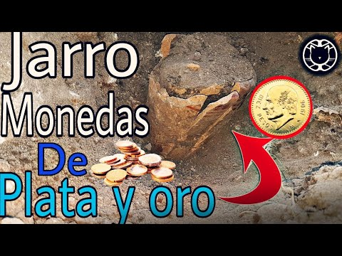 Encuentro TESORO en Jarro Monedas de PLATA Y ORO !!!