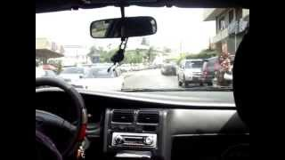 preview picture of video 'Taxi Drive Through the Streets of Libreville Gabon - 8th March 2010'
