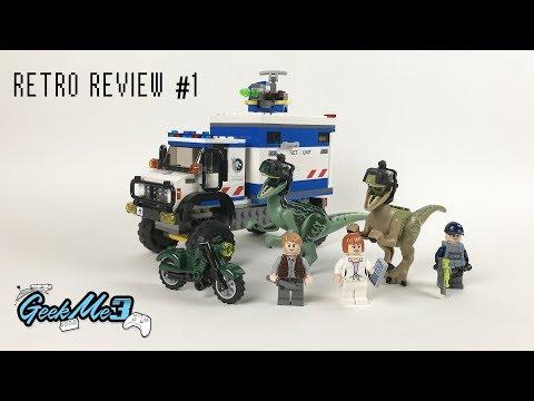 Vidéo LEGO Jurassic World 75917 : La destruction du vélociraptor