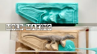 How To Make Two Part Silicone Molds! - Making My Allosaurus Models