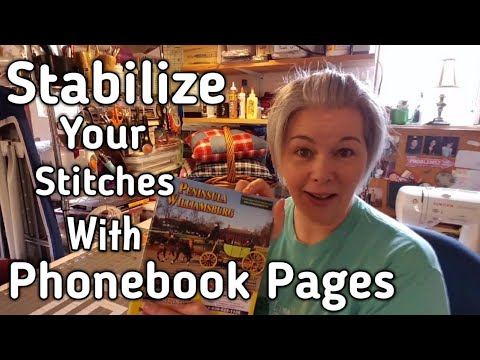 Stabilizing Stitches With Phonebook Pages - Preventing Puckering and Skipped Stitches