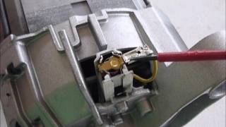 Waschmaschine Teil 13: Siemens Reparatur F:43 Motor defekt, Motorkohlen, Fehler 43
