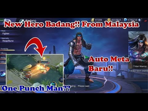 Gameplay New Hero Badang From Malaysia Mobile Legends Mas Fan
