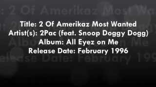 2Pac feat Snoop Dogg: 2 of Amerikaz most wanted (lyrics)
