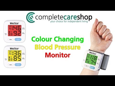 Colour Changing Wrist Blood Pressure Monitor