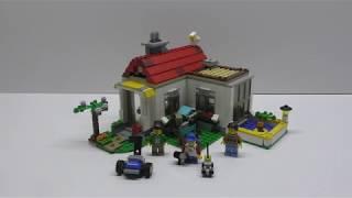Сборка дома №3 из Конструктора LEGO Creator Загородный дом