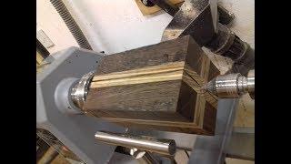 Woodturning - A Wenge & Zebrano Hollow Form