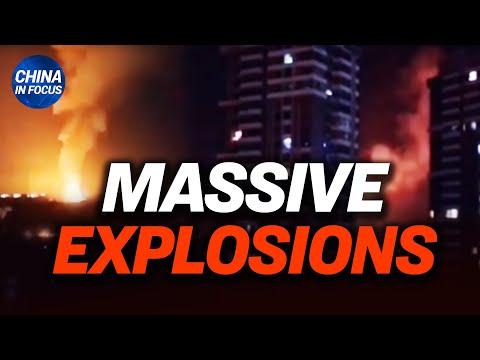 China's capital reports massive explosions; Rumors of bank runs spread; More heavy rain, mudslides