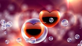 Bubble burst Hearts | moving hearts background | heart background video | love motion background hd