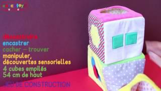 Cubes d'activité en tissu