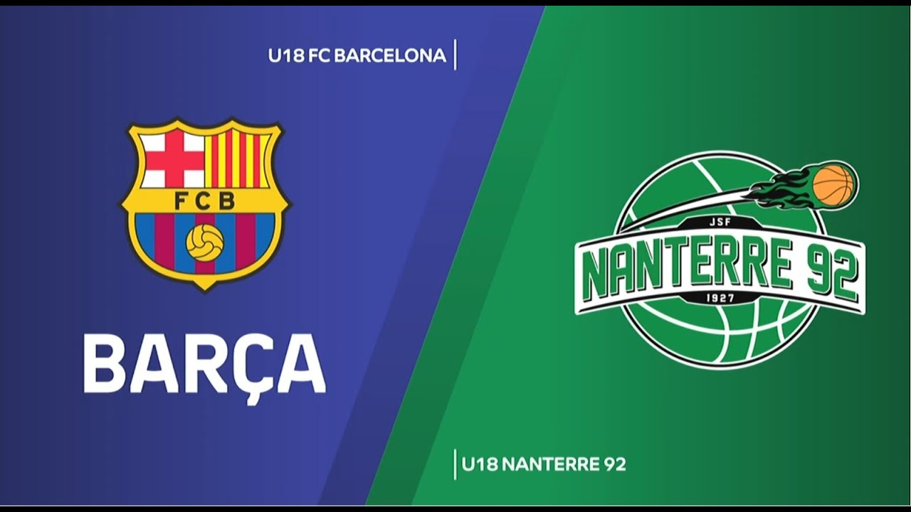 U18 - FC BARCELONA vs NANTERRE 92. Euroleague B. Adidas Next Generation Tournament. Valencia 2020
