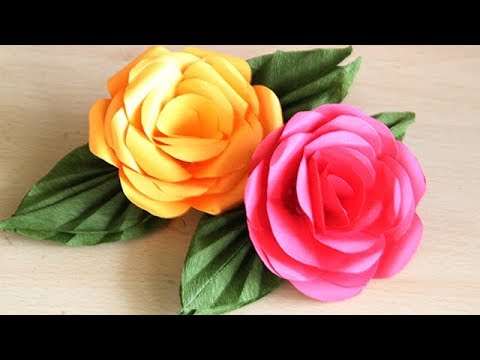 Diy paper flower tree tutorial diy tube how to make a paper rose easy step by step tutorial at home paper mightylinksfo