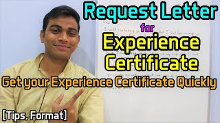 Request Letter for Experience Certificate - Get your Experience Certificate Quickly [Tips, Format]