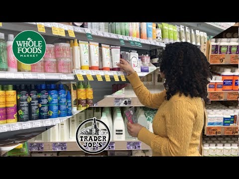 Whole Foods & Trader Joes: Follow Me To Look At Hair Products!
