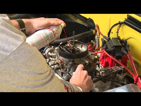 How To Clean A Gasoline Carburetor Upper Engine (air Intake) Using Sea Foam Spray
