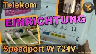 Verkabelung & Einrichtung: Telekom Speedport W724V am IP-Anschluss mit (V)DSL / Telefon / WLAN
