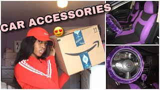 I GOT CAR ACCESSORIES FOR MY NEW CAR !! AMAZON UNBOXING Vlogmas Day 1