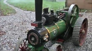 """Steaming A 4"""" Foster Traction Engine"""
