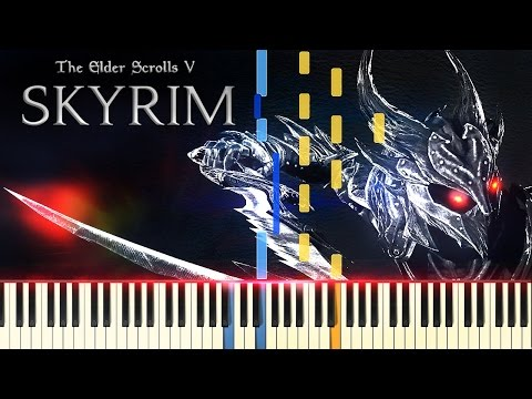 [PIANO TUTORIAL] Skyrim - The Streets Of Whiterun (Synthesia - Piano Cover - Game Soundtrack)