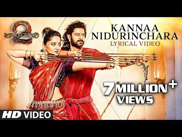 Kannaa Nidurinchara Full Song With Lyrics | Prabhas, MM Keeravani, Anushka