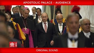 Pope Francis- Audience with President Vladimir Putin 2019-07-04