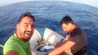 Fishing Adventure, 40 kg yellowtail amberjack in 3,5m RIB