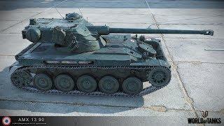 ЛУЧШИЕ РЕПЛЕИ НЕДЕЛИ: AMX 13 90 - НЕВЕРОЯТНАЯ ИМБА, МЕДАЛЬ ПУЛА [World Of Tanks]
